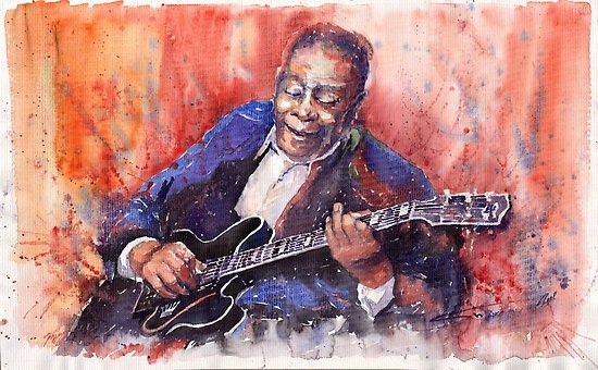 """B.B. King"" Painting by Yuriy Shevchuk From redbubble.com"
